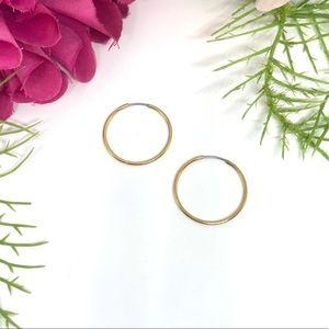 VINTAGE⚜️MONET Golden Dainty Thin Hoop Earrings